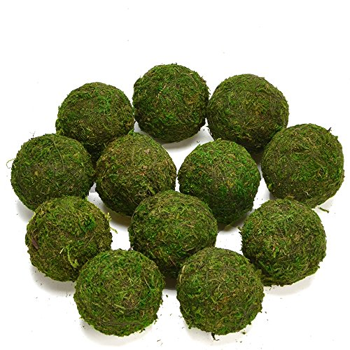 Byher Decorative Ball Natural Green Moss Handmade (3.5