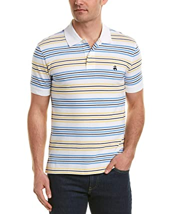 ecc2495e4 Brooks Brothers Mens Golden Fleece Performance Pique Slim Fit Polo Shirt,  XL, Blue at Amazon Men's Clothing store: