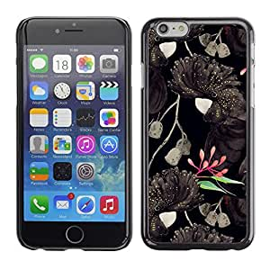 Caucho caso de Shell duro de la cubierta de accesorios de protección BY RAYDREAMMM - Apple iPhone 6 Plus 5.5 - Art Black Colorful Pink Green