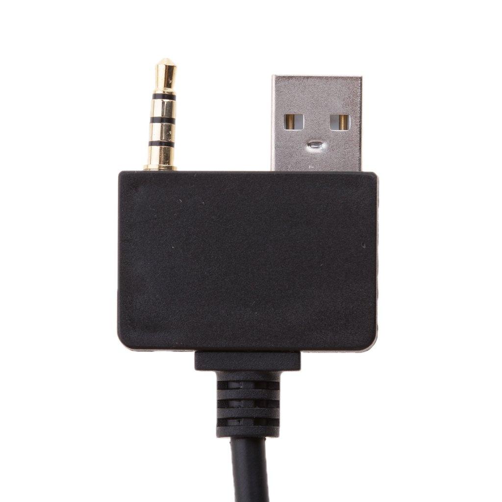 Sharplace C/âble Damplificateur Audio De Voiture Dentr/ée Jack 3,5 Mm pour IPhone IPod Hyundai Kia