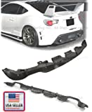 2012 2013 2014 Subaru BRZ Scion Fr-s Rear Bumper Lower Air Flow Diffuser Spoiler Pp Black
