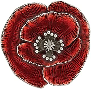 product image for DANFORTH - Remembrance Poppy Brooch Pin - Red - 1 3/4 Inch - Pewter - Made in USA