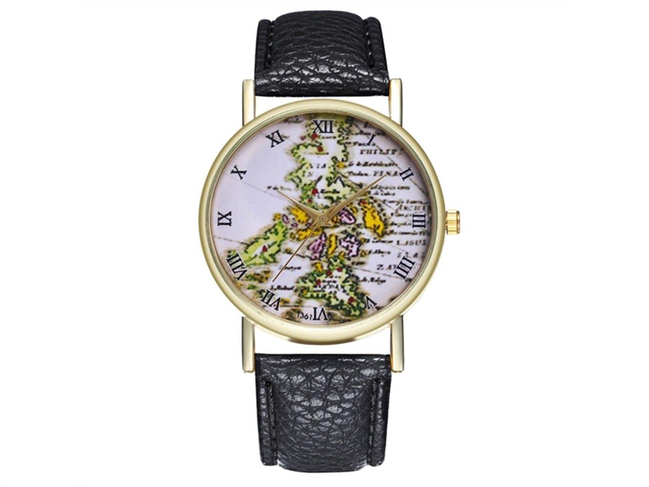 JKHGJUH Philippine Antique Map Reloj de Regalo de Viaje Filipinas ...