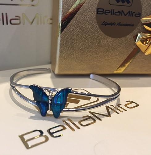 avec rose ou bleu Naturel Coquille de Paua exotique de superbes Bijoux pour femmes filles dans une bo/îte cadeau le choix Bellamira abalone Papillon plaqu/é argent Collier Boucles doreilles Bracelet