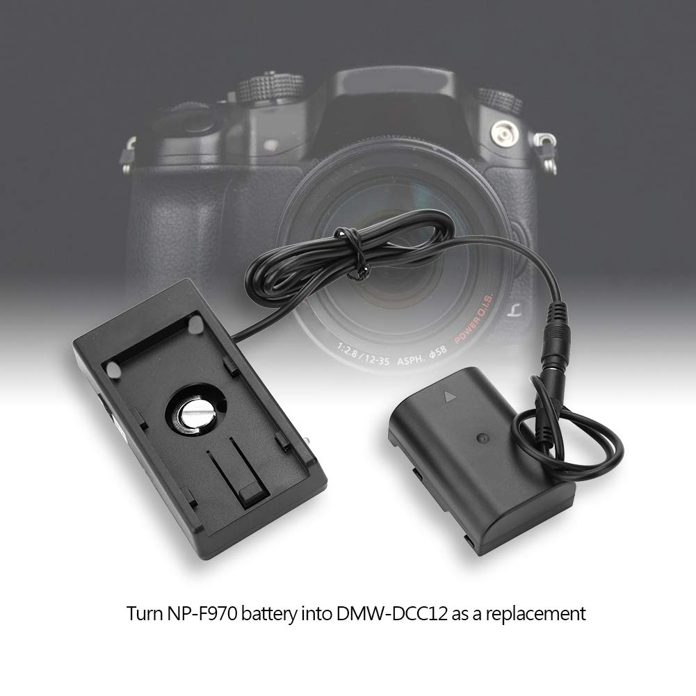 Elerose NP-F970 to DMW-DCC12 Fully Decoded Dummy Battery Adapter for DMC-GH3//DMC-GH4//DMC-GH5