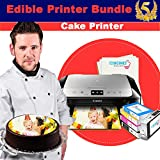 Edible Printer Bundle - Icinginks Canon Cake Printer With Refillable Edible Cartridges, Icing Sheets Pack - 12 Sheets - Newer Model Edible Printer