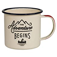 Gentlemen's Hardware Adventure Enamel Camping Coffee Mug, Cream (12 oz)