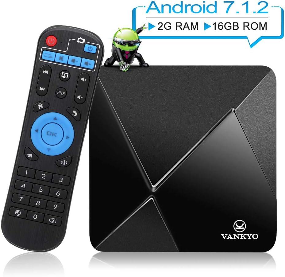 VANKYO TB80 4K Android 7.1 TV Box w/2GB RAM 16GB ROM Amlogic S905W Quad Core Procesador 64 bits H.265/WIFI Soportado: Amazon.es: Electrónica