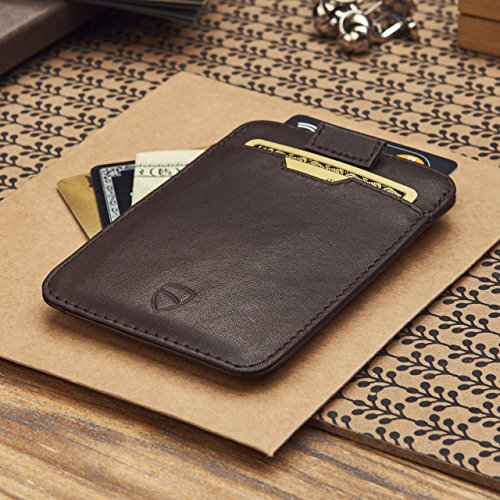 af93eedfffcc Chelsea Slim Card Sleeve Wallet with RFID Protection by Vaultskin - Top  Quality Italian Leather - Ultra Thin Card Holder Design For Up To 10 Cards  ...