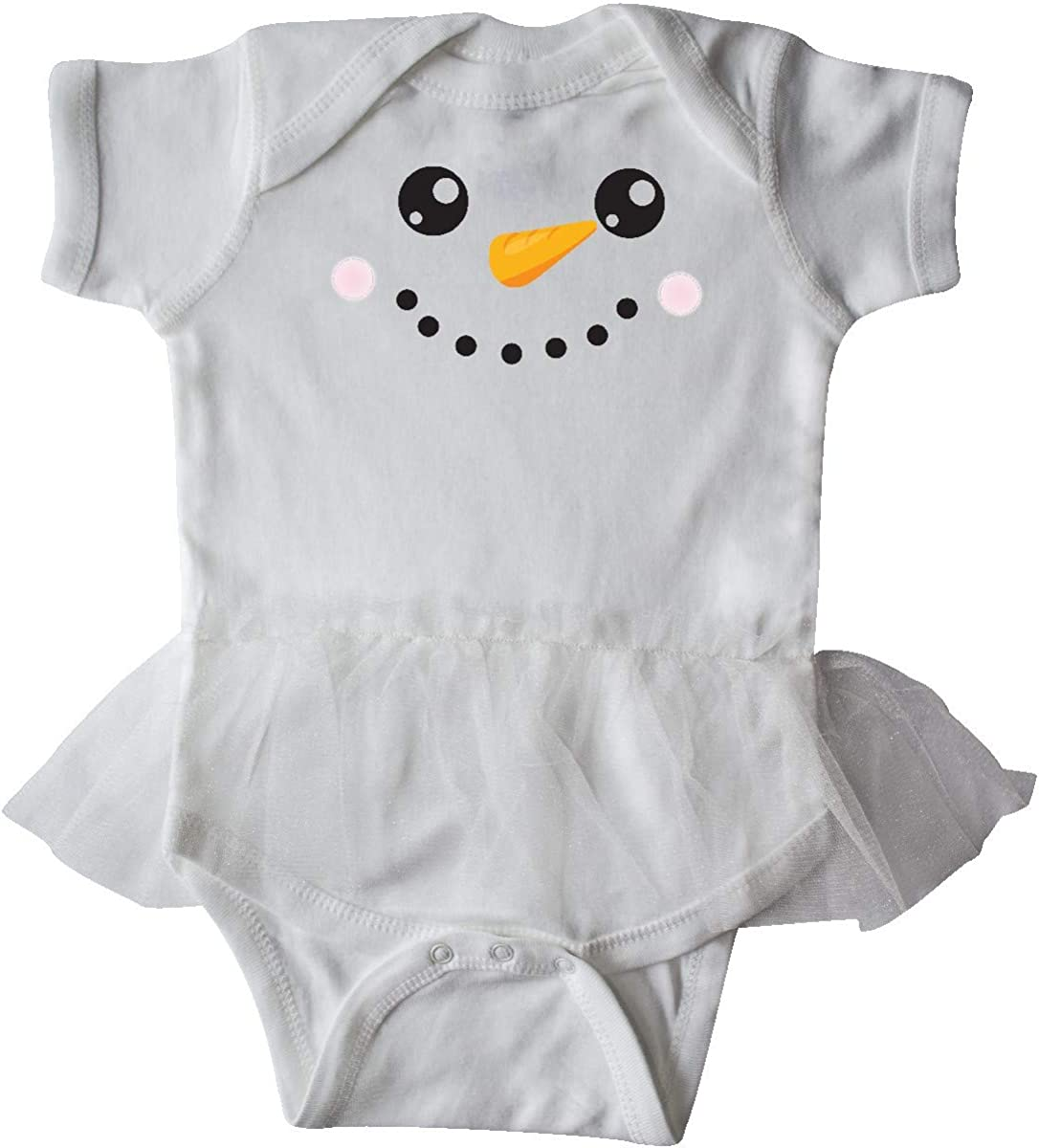 Carrot Nose Infant Tutu Bodysuit inktastic Snowman Head Snowman Face