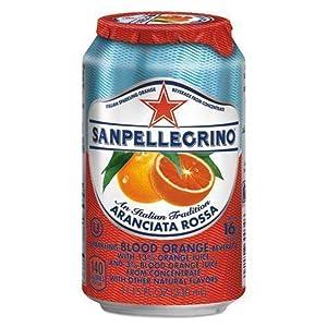 Sparkling Fruit Beverages, Aranciata Rossa (Blood Orange), 11.15 oz Can, 12/Ctn