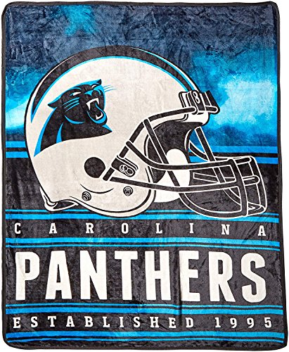 - Officially Licensed NFL Carolina Panthers Stacked Silk Touch Throw Blanket, 60