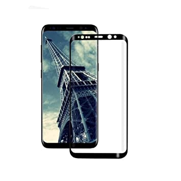 CELZO Full Screen Protection Tempered Glass Screenguard for Samsung Galaxy S8 Plus    Black  Screen guards