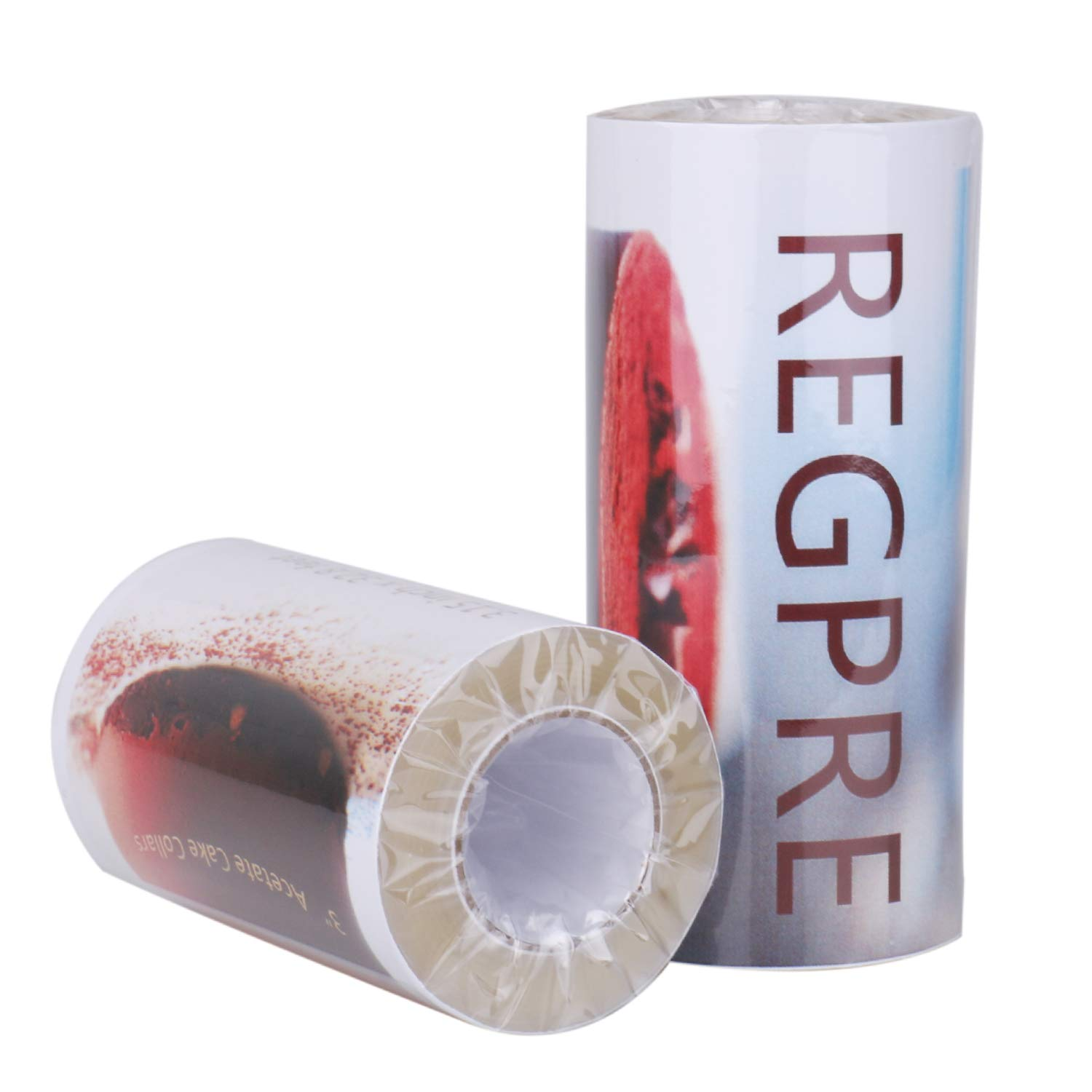 Regpre Acetate Cake Collars 3 Inch x 32.8(ft) Acetate Sheets Roll for Chocolate Mousse Baking