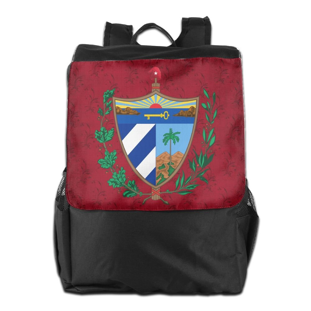 Nollm Coat Of Arms Of Cuba Cute Backpack Travel Shoulder Bag For Men Women And Teens