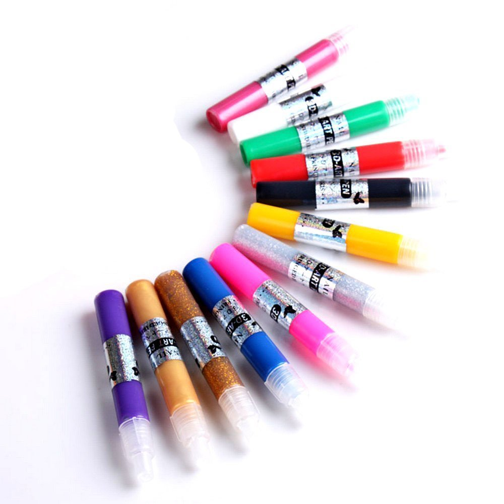 Davidsonne Pro 12 Farben 3D Paint Pen UV Gel Acryl Nagel ...