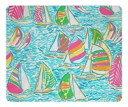 Amazon Lilly Pulitzer Sailboat Pattern Custom NonSlip Oblong Stunning Lilly Patterns
