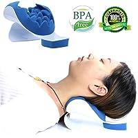 Almohada para relajar el cuello y los hombros de REARAND, alivio ortopédico y apoyo para hombros y parte superior de la columna, evite el dolor, masaje por tracción