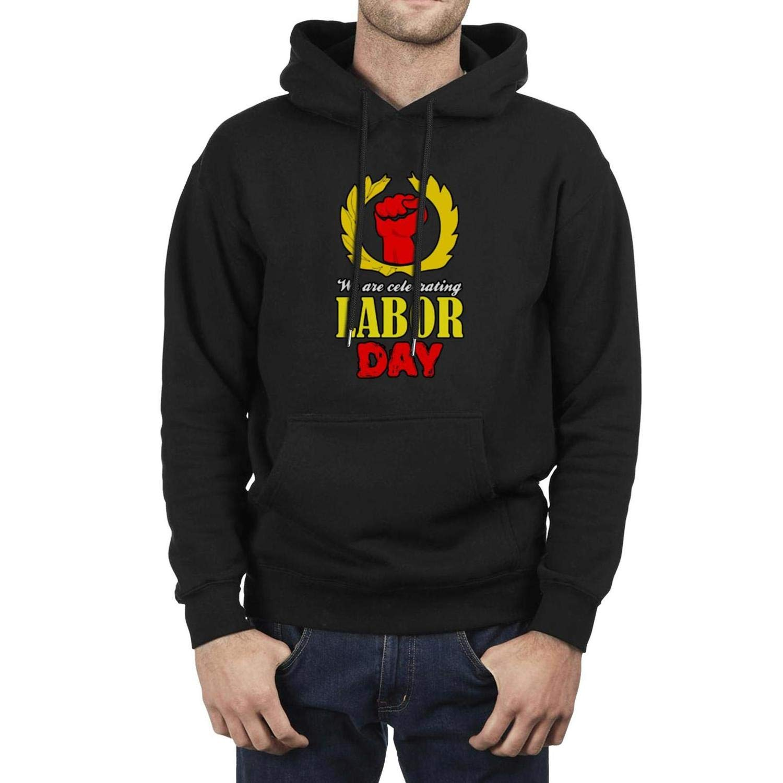 Mens Athletic Fleece Hoodie Labor Day American Flag Tool Ultra Soft Plush Winter Pullover Hooded Sweatshirt Festival Gift