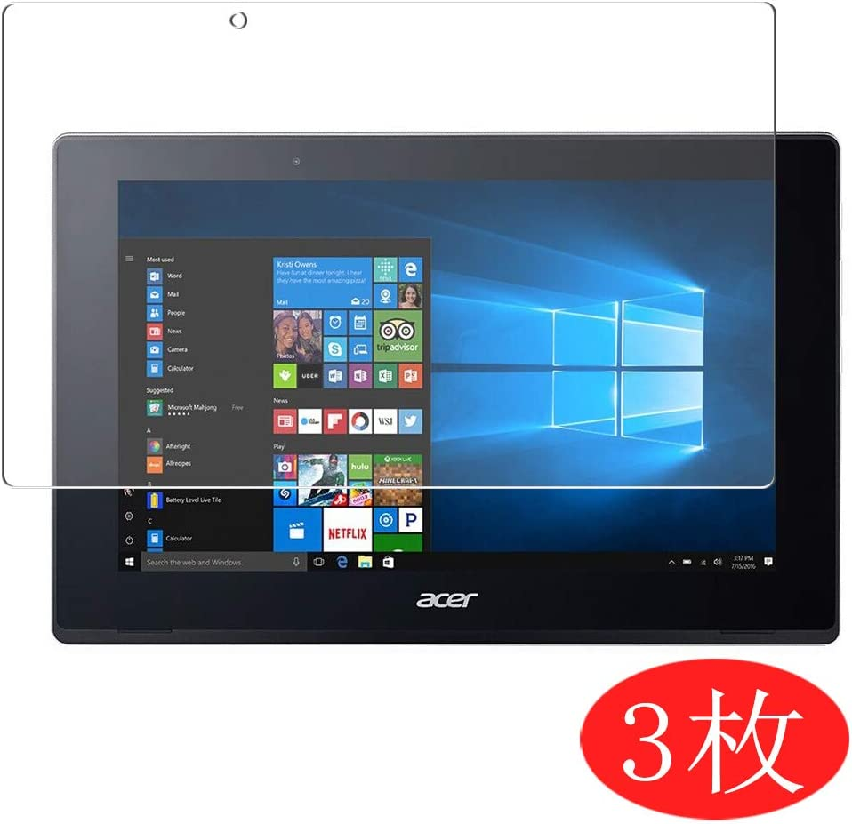 "【3 Pack】 Synvy Screen Protector for Acer Aspire Switch 10 SW5-017 / SW5-017p 10.1"" TPU Flexible HD Film Protective Protectors [Not Tempered Glass]"