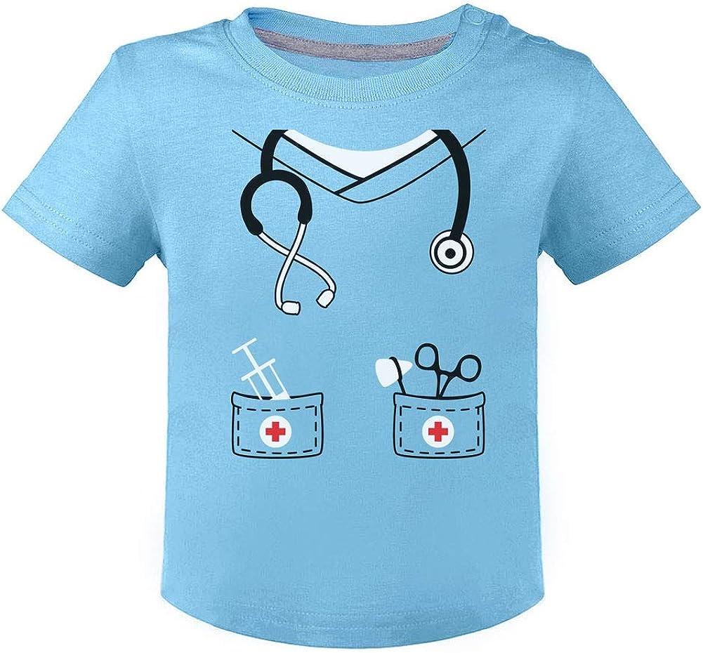 Dulce Disfraz de Enfermero para Beb/és Green Turtle T-Shirts Camiseta para ni/ños