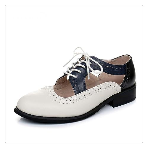 52701a8fdd3 Hbvza Women Summer Oxford Sandals Shoes Woman Flats Platform lace up ...