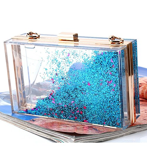 Color Choose From Multi Evening Quicksand Lovely Sequins Colour Women's Purple Bag Rabbit Acrylic Sparkling Creative Translucent Blue To OSqZOA