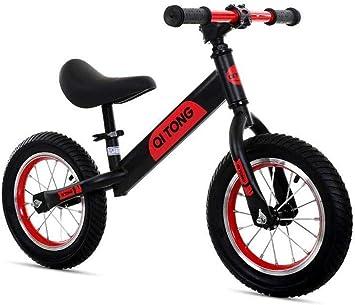 1-1 Bicicletas sin Pedales para niños, Sillín y Manillar Regulable en Altura Neumáticos inflables Ligero,Black: Amazon.es: Deportes y aire libre