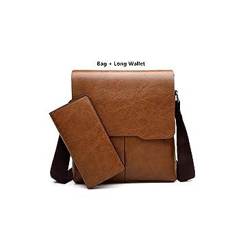 Amazon.com: Bolsas de hombre de piel para mensajero y hombro ...