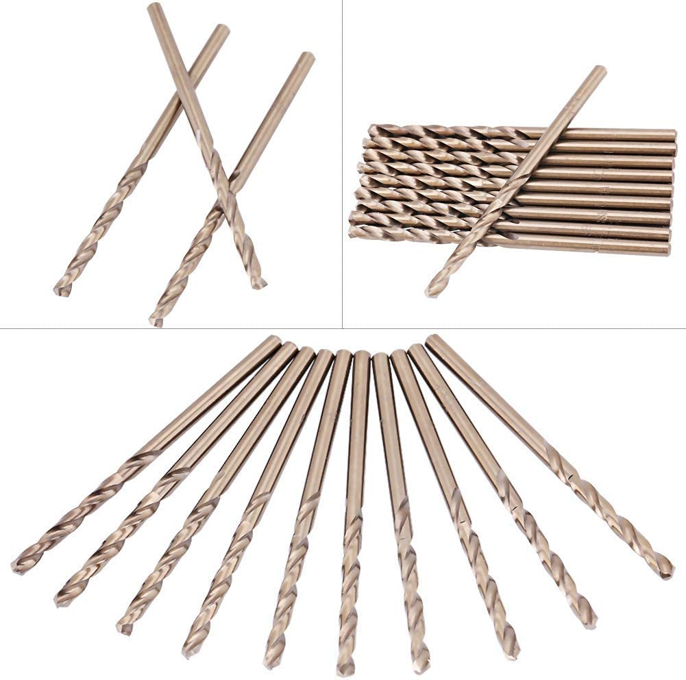 sheet metal Industrial Drill Bits Nuokix Drill Bit Set 5mm M35 Cobalt Drill Bit Set HSS-CO Drills Set 1.0-5.0MM for Drilling on Stainless Steel for drilling on stainless steel cast iron