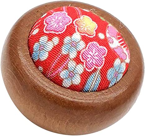 Color 1 Hellery Solid Wood Base Pin Cushion Insertion Sewing Quilting Tool 55mm Dia