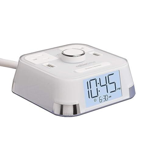 Amazon.com: Reloj despertador CubieTime con 2puertos ...