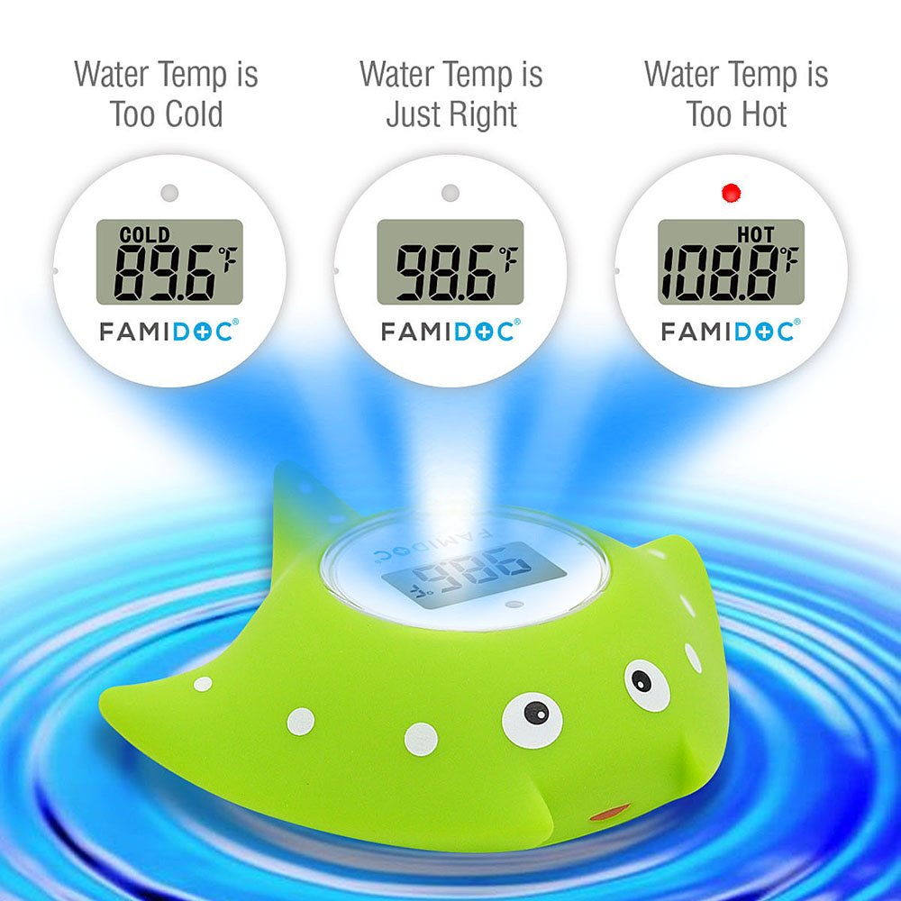 Amazon.com: Baby Bath Thermometer with Room Thermometer - Famidoc ...
