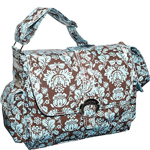 Kalencom Laminated Buckle Bag, Toile (Blue Toile Canvas)