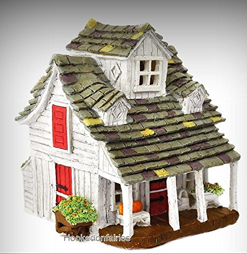 The Barn Farmhouse GO 17585 Miniature Fairy Garden Dollhouse - My Mini Fairy Garden Dollhouse Accessories for Outdoor or House Decor by New Miniature