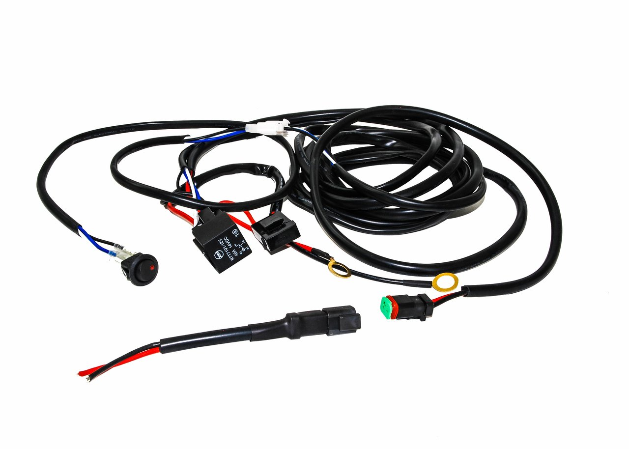 amazon single dt harness plug wiring kit for led hid lights 12 Volt LED Light Schematic amazon single dt harness plug wiring kit for led hid lights bars offroad 4x4 automotive
