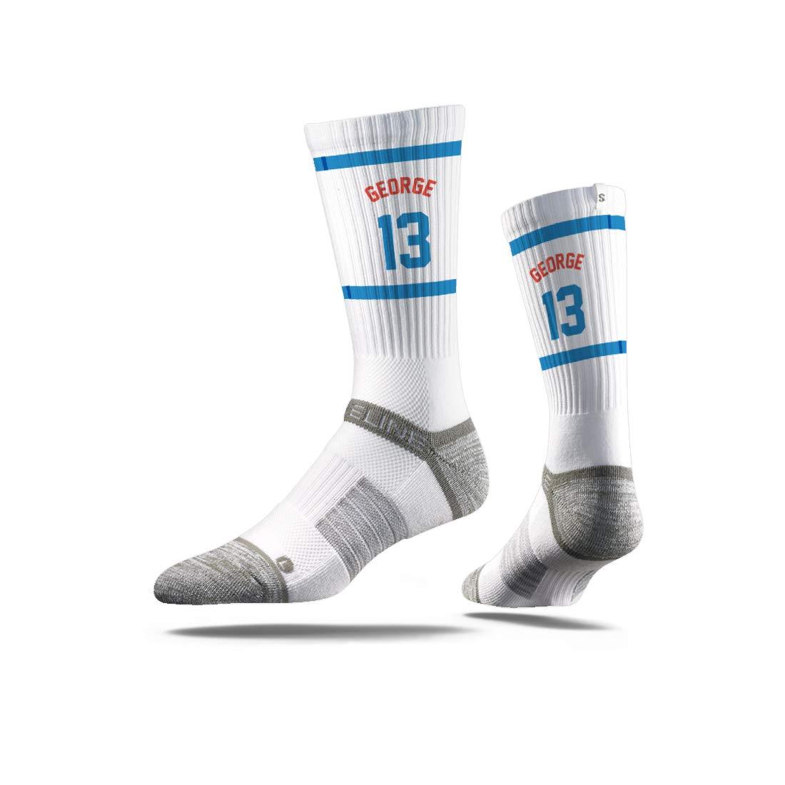 Strideline NBA Oklahoma City Thunder Paul George Jersey Premium Athletic Crew Socks Black One Size