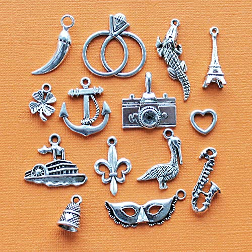 - Extensive Collection of Charm Cake Pull Charm Collection Antique Silver Tone 14 Charms - COL110 Express Yourself