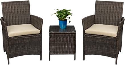 patio furniture sets. Devoko Patio Dining Sets Porch Furniture Garden Rattan Sofa Clearance Outdoor Chairs Cushion