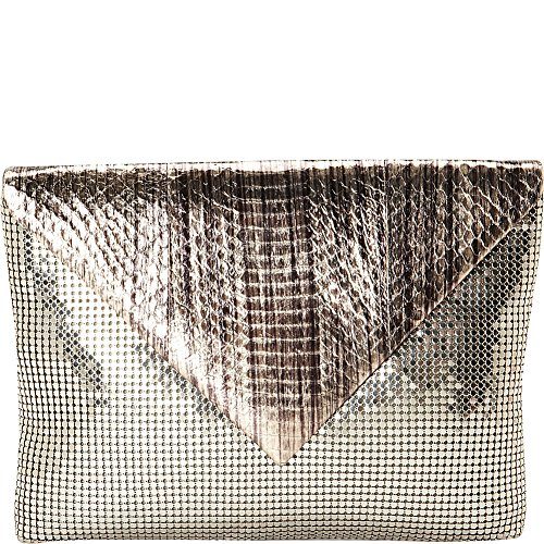 Pewter Snakeskin amp; Davis Bag Black Evening Whiting CxazqYwY