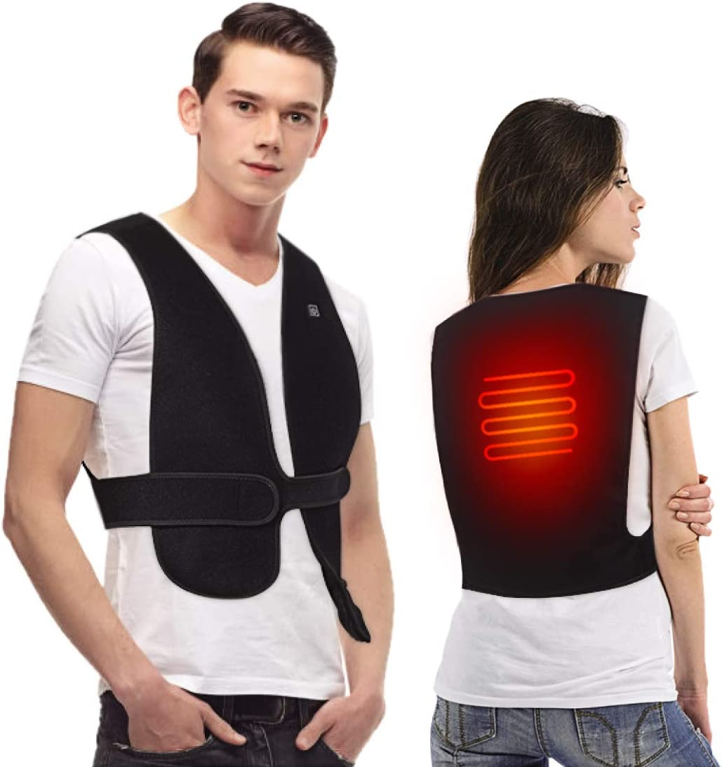 DOACT Heated Vest, USB Heat Cloth for Women and Men, Washable Electric Body Warmer in Cold Winter for Motorcycle, Outdoor Activities, Hunting, Camping, Hiking, Skiing