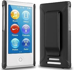 iPod Nano 7 Case - ONYX Ultra Slim Fit (Black) Shell Case Belt Clip Holster Cover for Apple iPod Nano 7 (7th Generation)