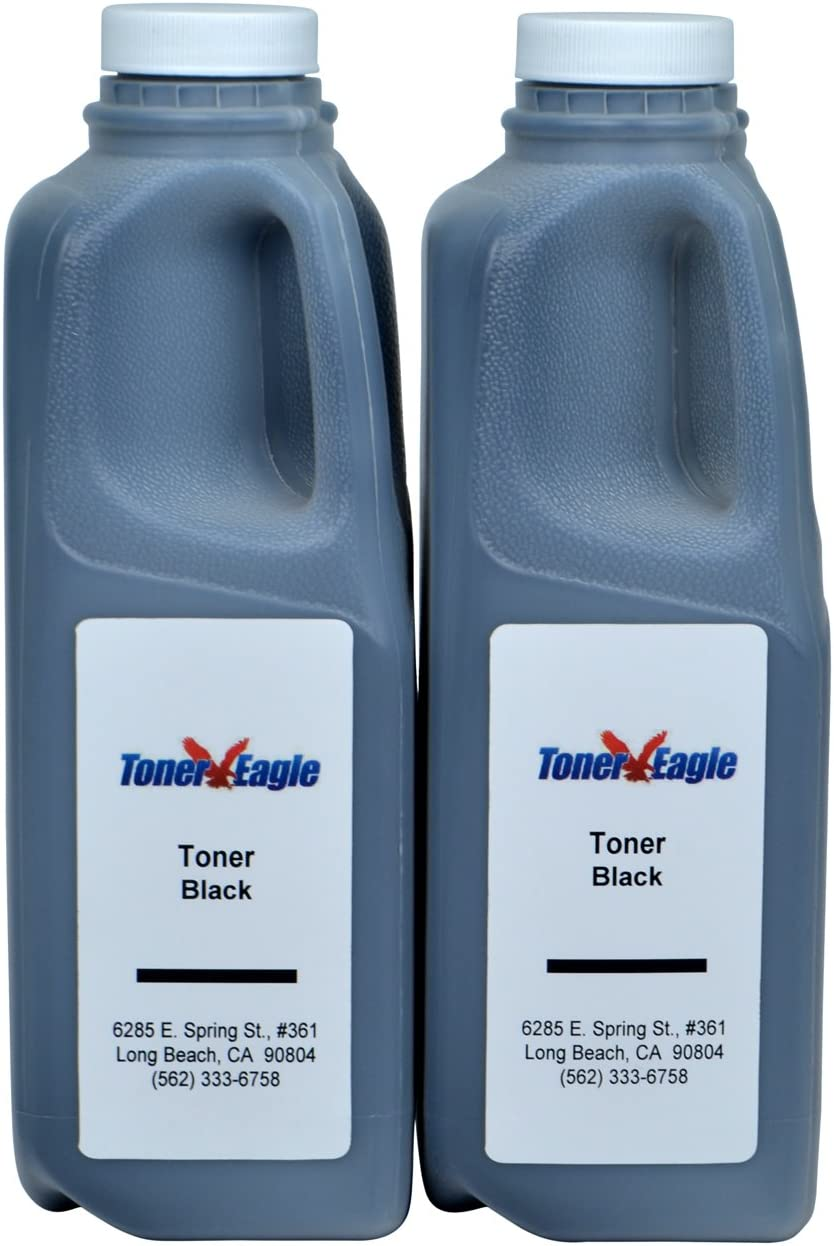 Toner Eagle Refill Kits Compatible with Lexmark MX310dn MX410de MX510de with Chips. Black, 2-Packs