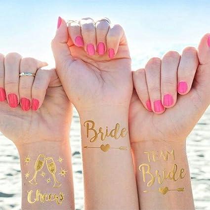 25 pieza despedida de soltera Tatuajes Set, 1 Bride Tattoo y ...