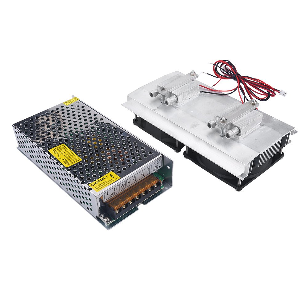 120W Semiconductor Refrigeration Cooler Thermoelectric Peltier Water Cooling System DIY Device (Cooler with Power Supply)