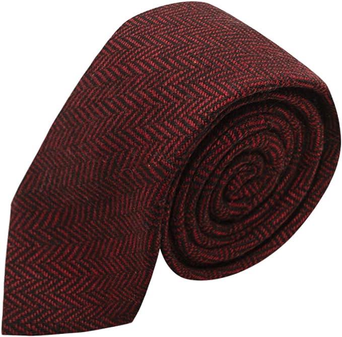 King & Priory Corbata Con Tela Espigada Premium Color Rojo ...