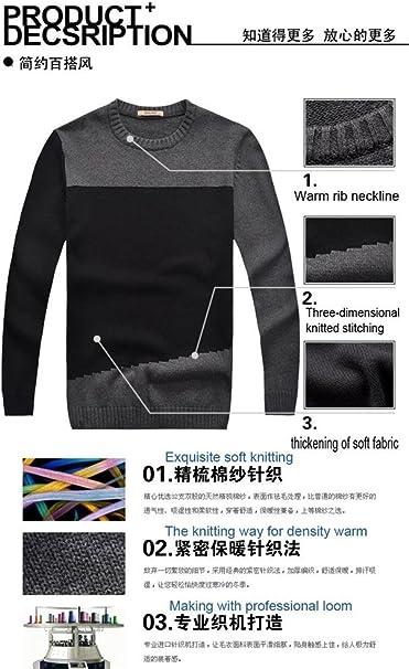 Gaorui Long Sleeve Two-Tone Sweater Knitted Tops Knitwear Pullover Sweatshirt