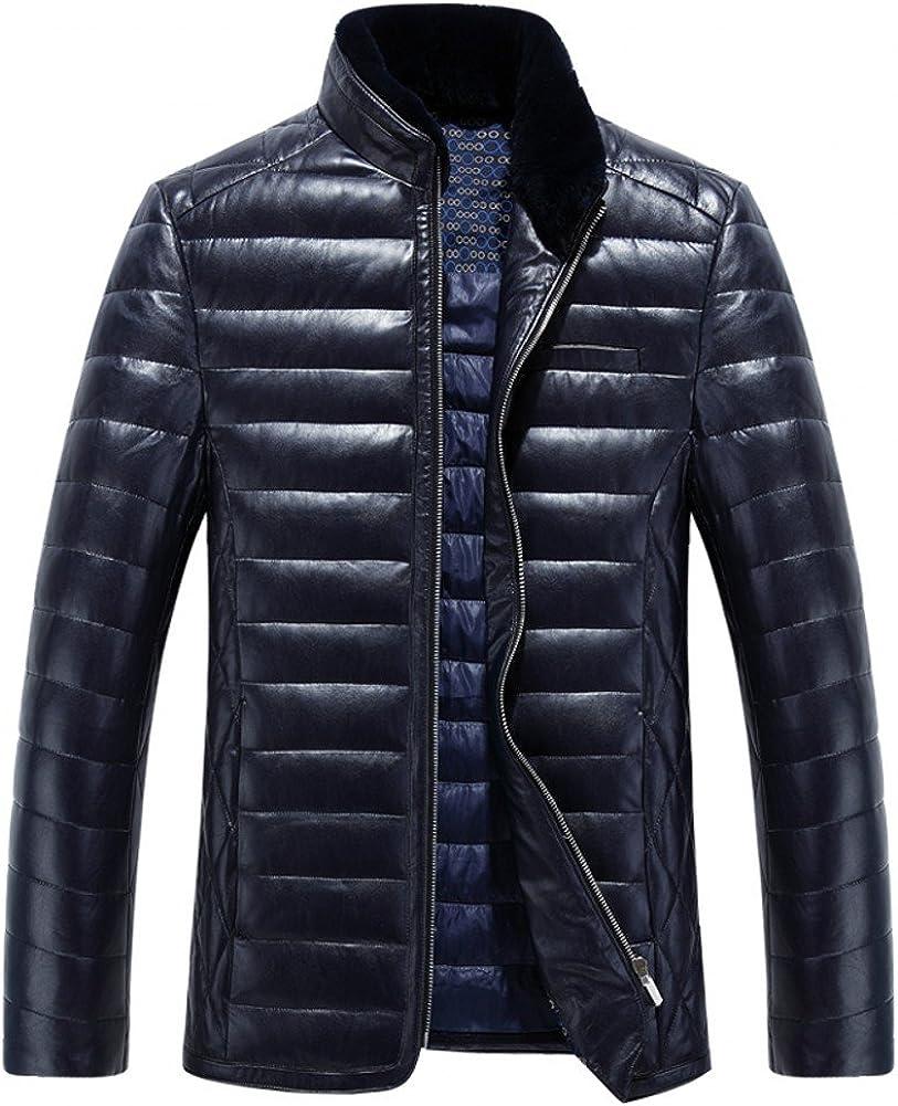 AK Beauty Mens Fur Stand Collar Thicken Winter Jacket