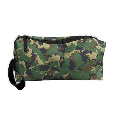 Portable Green Picture Receiving Package Makeup Bag Pencil Pen Case Makeup Bag Set For Unisex