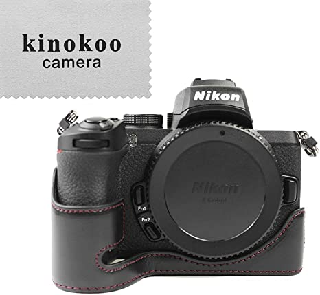 kinokoo Estuche de Cuero de la PU para Nikon Z50, Estuche de Agarre Manual Camera Z50 Estuche Inferior Medio Estuche para Nikon Z50 (Negro): Amazon.es: Electrónica